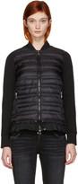 Moncler Black Down Panel Jacket