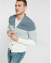Express cotton ombre shawl collar cardigan