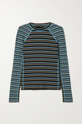 Stine Goya Samara Striped Ribbed-knit Top - Blue