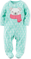 Carter's 1-Pc. Snowflake-Print Dog Footed Coverall, Baby Girls (0-24 months)