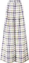 ADAM by Adam Lippes check wide leg trousers - women - Cotton - 2