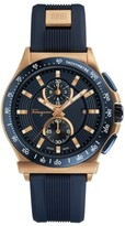 Salvatore Ferragamo Men's 1898 Sport Chronograph Silicone Strap Watch, 44Mm