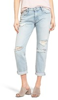 Current/Elliott Women's The Fling Destroyed Rolled Jeans