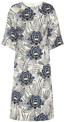Dries Van Noten Floral cotton-blend dress