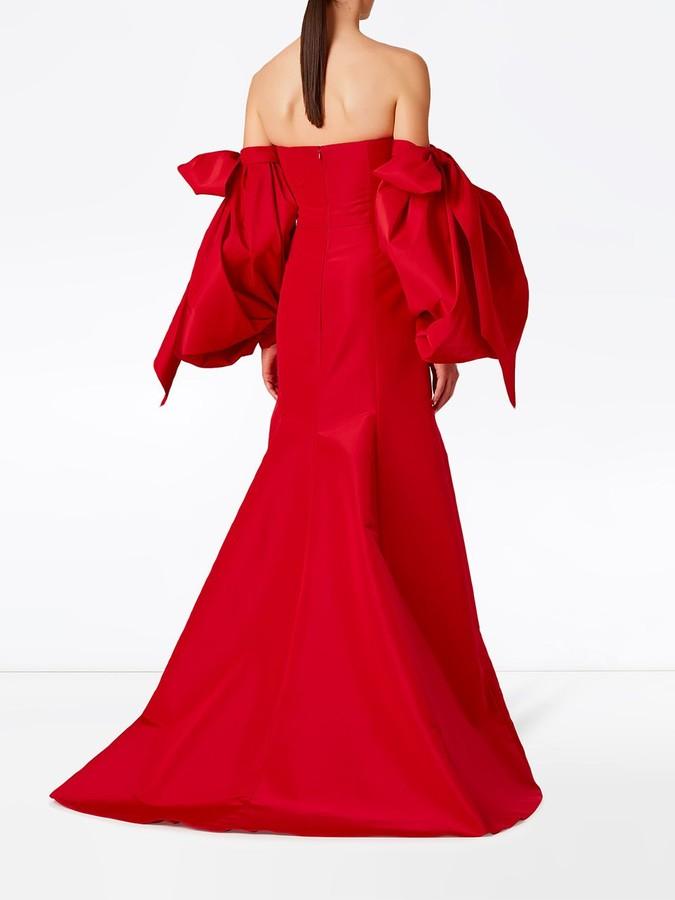 Thumbnail for your product : Carolina Herrera Drape-Detail Silk Gown
