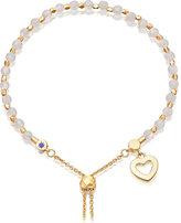 Astley Clarke Heart 18ct yellow-gold vermeil and rose quartz kula bracelet
