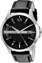 Armani Exchange A|X Men's AX2101 Leather Quartz Watch