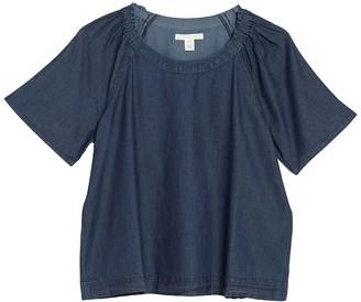Caslon Chambray Short Sleeve Top (Regular & Petite)