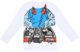Stella Mccartney Kids Monster DJ organic cotton top