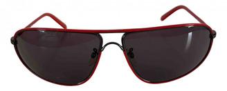Ermenegildo Zegna Red Metal Sunglasses