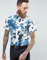 Selected Slim Short Sleeve Shirt in Print