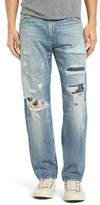 True Religion Geno Straight Leg Jeans (DQHM Patched Wanderer) (Regular & Big)