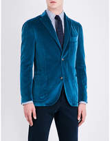 Boglioli Single-breasted velvet jacket