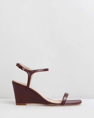 Atmos & Here Ada Leather Wedges