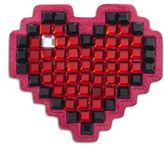 Anya Hindmarch Heart Crystal & Suede Sticker