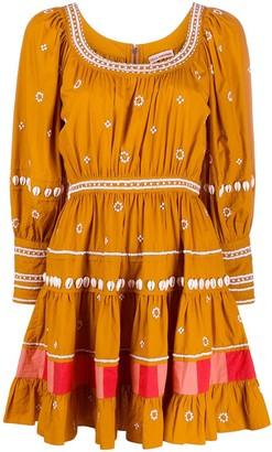 Ulla Johnson Tiered Long Sleeve Dress
