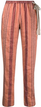 Forte Forte Striped Straight-Leg Trousers