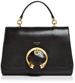 Jimmy Choo Madeline Medium Top-Handle Leather Handbag