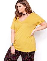 Addition Elle L&L V-Neck Short Sleeved Boyfriend T-shirt