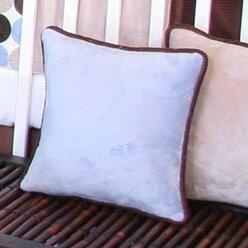 Brandee Danielle Blue Chocolate Minky Polka Dot Throw Pillow Color: Blue