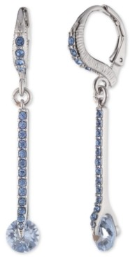 Givenchy Pave Linear Drop Earrings