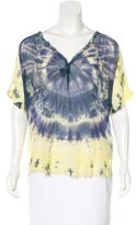 Raquel Allegra Silk Tie-Dyed Top
