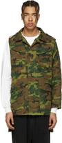 Miharayasuhiro Green Camouflage Panelled Jacket