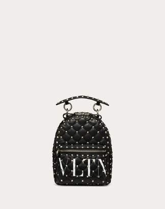 Valentino Garavani Mini Vltn Rockstud Spike.it Backpack Women Black Lambskin 100% OneSize