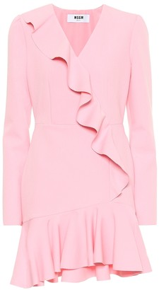 MSGM Ruffled crepe minidress