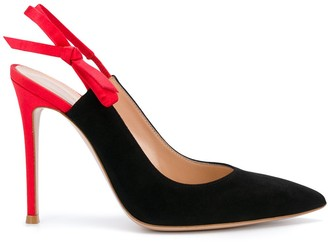 Gianvito Rossi two-tone slingback pumps