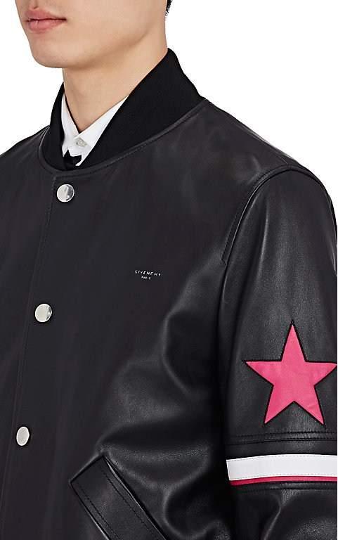 Givenchy Men's Leather Bomber Jacket