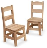 Melissa & Doug 2-pk. Wooden Chair Set