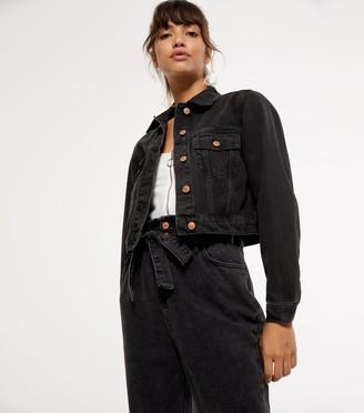 New Look Cropped Denim Jacket
