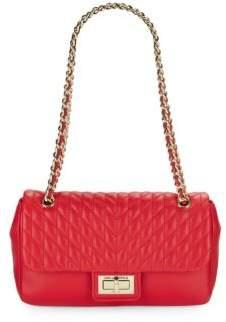 Karl Lagerfeld Paris Agyness Leather Shoulder Bag