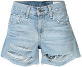Rag & Bone Jean - ripped denim shorts - women - Cotton - 24