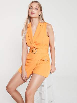 River Island Tailored Playsuit - Orange