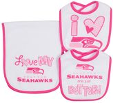 Gerber Baby Seattle Seahawks 3-Piece Bib & Burpcloth Set