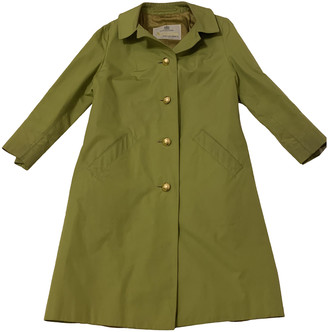 Aquascutum London Khaki Cotton Trench coats