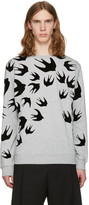 McQ by Alexander McQueen Grey Swallows Pullover