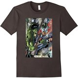 Marvel Hulk VS Thor Split By Lightning Graphic T-Shirt