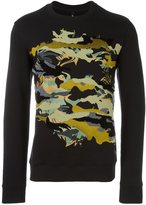 Versus camouflage print sweatshirt - men - Cotton - S