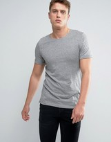 Jack and Jones Longline T-Shirt with Zip