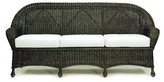The Well Appointed House Closed-Weave Wicker Sofa with Cushions-Available in a Variety of Finishes