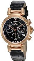 Edox Women's 10220 37RC NIR LaPassion Analog Display Swiss Quartz Black Watch
