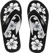 Board Angels Womens EVA Toe Post Sandals Black/White