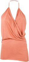 Rick Owens Lilies draped front blouse - women - Cotton/Polyamide/Viscose - 40