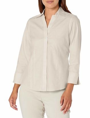 Foxcroft Women's Petite Taylor Non-Iron 3/4 SLV. Shirt