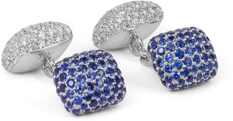 Trianon 18-Karat White Gold, Sapphire And Diamond Cufflinks