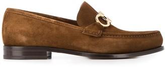 Salvatore Ferragamo Gancini-embellished suede loafers