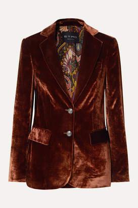 Etro Velvet Blazer - Copper